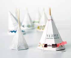Canadian design student, Sophie Pépin, drew inspiration from the roots of the native american nomadic lifestyle for this tea packaging she calls North American Teapee.
