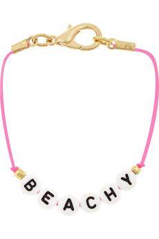Miguelina + Oceana Beachy gold-tone beaded bracelet | NET-A-PORTER