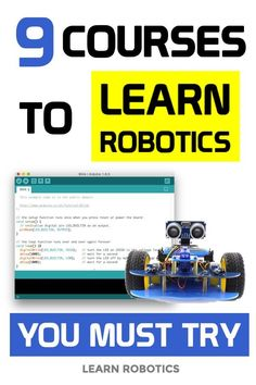 9 Robotics Courses You Must Try! Robotics Projects, Arduino Projects, Electronics Projects, Mechatronics Engineering, Mechanical Engineering Design, Learn Computer Coding, Computer Science, Learn Robotics, Robotics Books