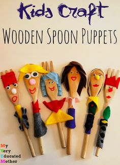 Kids Craft: Wooden Spoon Puppets