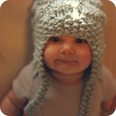 Amelia Hat from Coconut Robot.  Custom knit hat for baby, toddler, kid + adult.