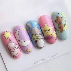 Baby Nail Art, Baby Nails, Star Nail Art, Rose Nail Art, Nail Swag, Cartoon Nail Designs, Art Deco Nails, Nail Art Wheel, Matte Pink Nails