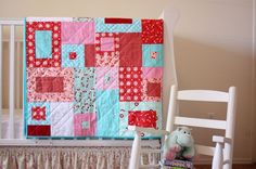 Love the colors of this one for her doll bed.