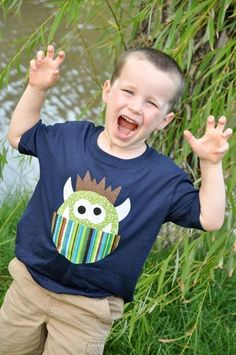 PDF Applique TEMPLATE Pattern ONLY Humphrey The Monster by etsykim, $2.00