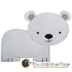 Polar Bear Machine Embroidery Applique Design by TheAppliquePlace
