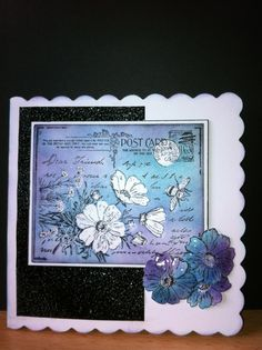 Multi medium resist and faux crackle. Crafty Individual stamp (try with liquid frisket for the resist)