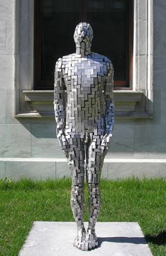 anitaleocadia:  Building VI by Antony Gormley, 2003. Stainless steel.Musee des Beaux-Arts de Montreal. Bysoma_slim on Flickr.