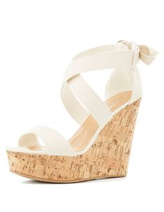 033fb6681ce Bamboo Strappy Cork Wedge Sandals