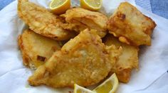 Greek family recipe for fried cod, known in Greece as bakaliaros. Pureed Food Recipes, Greek Recipes, Diet Recipes, Snack Recipes, Healthy Recipes, Fried Cod Recipes, Greek Fries, Cooking For Beginners, Delicious Sandwiches