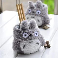 Sytian® Adorable My Neighbor Totoro Plush Pen Holder Totoro Pencil Holder Container Cute Home Decor Room Decor Practical Gifts for Totoro Fans * Find out more about the great product at the image link. (This is an affiliate link) Pencil Bags, Pencil Pouch, Pencil Holder, Pencil Cup, Totoro Merchandise, Cool School Supplies, Kawaii Pens, Pot A Crayon, Desktop Decor