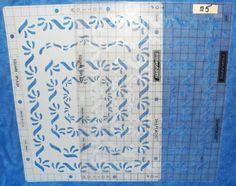 Fiskars  Shapeboss 2 piece SQUARE-SPLASH  #5615 Retired templates rare   25 TE11 #Fiskars