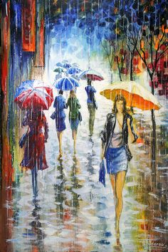 Let the rain kiss you. Let the rain beat upon your head with silver liquid drops. Let the rain sing you a lullaby Langston Hughes,
