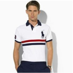 Like the style Camisa Polo, Ralph Laurent, Polo Rugby Shirt, Gentlemen Wear, Moda Casual, Polo Ralph Lauren, Mens Fashion, Mens Tops, T Shirt