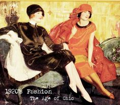 Article: Some popular women fashion trends in the 1920's were the chemise dress, showing leg, waist drop, bobbed hair, little black dress, and more. On summer days a shift dress was the go to item. In the evening, the hem got shorter and shoulders were shown.