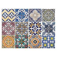 Dekorative Stickerfliesen mit tollen Motiven und Ornamenten für Wände und Fliesen | 12 teiliges Set | 15x15cm Cuadros Lifestyle http://www.amazon.de/dp/B015ZJPEPQ/ref=cm_sw_r_pi_dp_TMlPwb08V7M8W