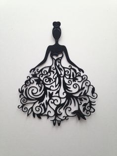 1 cut woman bridal dress Dimensions: x 9 cm The cuts are made with paper Clairefontaine 270 g Ideal to embellish your albums, cards. Feel free to contact me with any questions Enjoy your visit. Kirigami, Silhouette Portrait, Silhouette Art, Paper Cutting, Die Cutting, Papercut Art, Diy And Crafts, Paper Crafts, Metal Art
