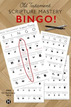 Old Testament Scripture Mastery Bingo – The Gospel Home Community Of Christ, Lds News, Scripture Mastery, Bible Activities, Bible Games, Lds Seminary, Family Home Evening Lessons, Lds Youth, Lds Scriptures