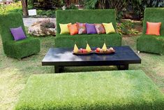 Love the feeling of sitting on freshly cut summer grass? Well why not enjoy it all year long with a top quality artificial grass sofa. For great prices and super soft turf have a look on our website. http://www.artificiallandscapes.co.uk