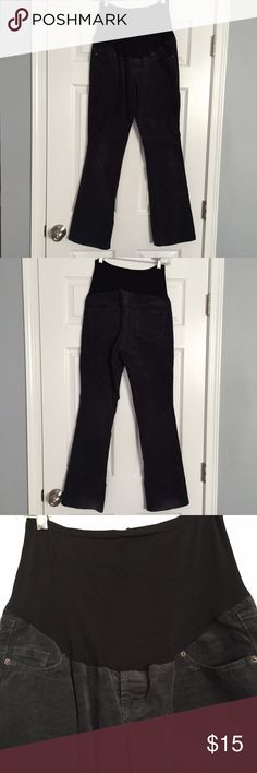 Motherhood Maternity Gray Corduroy Pants Bootcut Small Secret Fit ...