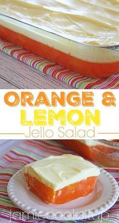 Orange and Lemon Jello Salad from Jamie Cooks It Up