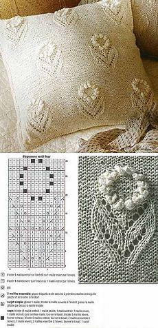 Вязаный цветочный узор для наволочки | Лаборатория домашнего хозяйства