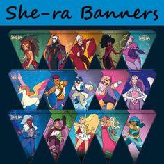 She-ra Princess Of Power Printable Party Kit Party Printables, Printable Banner, Party Kit, Party Ideas, She Ra Princess Of Power, 8th Birthday, Birthday Ideas, Birthday Parties, Bearded Lady