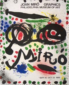 Joan Miro Graphics Exhibition, 1966 Lámina coleccionable