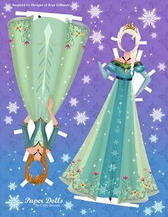 Frozen addition paper dolls.