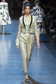 Dolce & Gabbana Spring/Summer 2016 Ready-to-Wear Collection via Designers Domenico Dolce & Stefano Gabbana Modeled by Bhumika Arora | Milan; September 27, 2015
