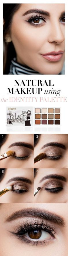 Sona Gasparian's Natural Eye Makeup Tutorial using the Pérsona Cosmetics Identity Palette