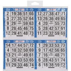 CLARENCE J VENNE INC Bingo Paper: Four Bingo Cards Each. This package contains one 125 sheets of four card bingo papers: 500 games per pad. Bingo Games, Card Games, Game Cards, Bingo Cards To Print, Bingo Sheets, Game Prices, Hobby Shop, Family Game Night, Joanns Fabric And Crafts
