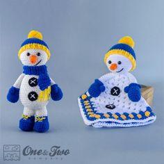 Snowman Lovey and Amigurumi Crochet Patterns Pack