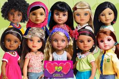 Hearts for Hearts dolls are multicultural, have fun and educational stories, are offered at a great price point, and donate proceeds to charity!