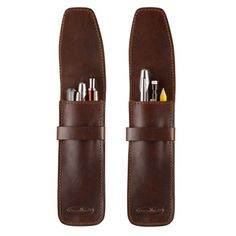 Men's leather pen cases made from luxury Italian leather - £32.99 #leather #pencase #pen