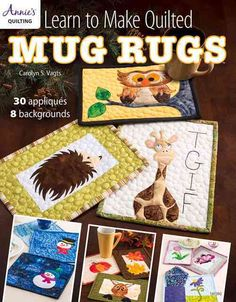 Now you can create a personalized mug rug of your choosing. It's as easy as 1,2,3. Pick out the background of your choice, select an applique motif, and decide if you'd like to add a sentiment. Just t