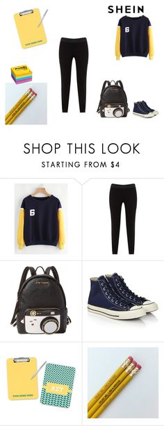 """""""$30 Coupon - SheIn"""" by leah-baritone ❤ liked on Polyvore featuring JunaRose, Betsey Johnson, Converse, contest and shein"""