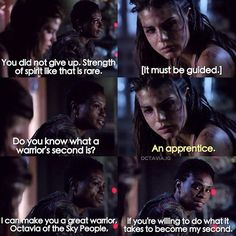 """#The100 2x10 """"Survival of the Fittest"""" - Octavia and Indra"""