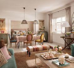 =colorful apartment designed by Rotaeche y Santayana studio Decor, Decor Design, House Colors, Beautiful Interiors, Vintage Decor, Interior Design, Home Decor, Home Deco, Apartment Interior