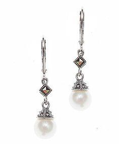 Judith Jack Sterling Silver Pearl Earrings