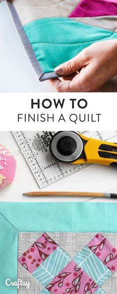 Finished sewing your quilt top? Learn how to expertly finish binding your quilt with Craftsy's step-by-step beginner guide.