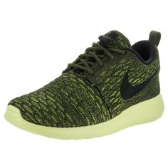 Nike Men's Roshe NM Flyknit SE Lucid Green/Black/White Running Shoe Men / Women
