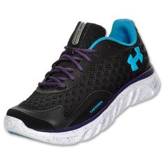 under armour shoes spine | Under Armour Spine Storm Womens' Running Shoe Black/Purple/Blue [89398 ...