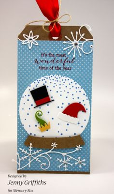 Snow Globe Tag-Jenny Griffiths
