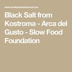 Black Salt from Kostroma - Arca del Gusto - Slow Food Foundation