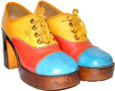 great pair of 70s platform shoes lace ups in very good condition but could ...  paradisvintage.com