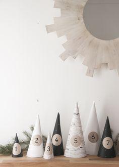 Selbstgemachter Adventskalender: DIY Weihnachtswald