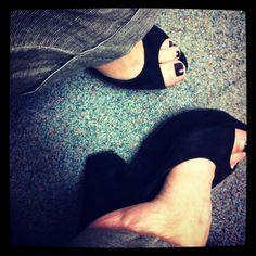Fav shoes ... Celine SS12 suede wedges ... High but comfy
