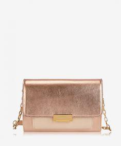 09c61049f Kate Crossbody Rose Gold Metallic Goatskin | GiGi New York Clutch Bag,  Handbag Accessories,