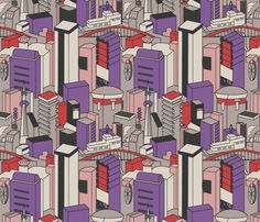 Tokyo fabric by janelle_wooten on Spoonflower - custom fabric