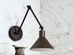 Adjustable metal wall lamp with swing arm CAPUCHINA by luxcambra